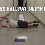 Lions swimmers take to the hallways